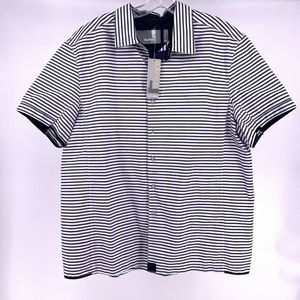 Number Lab Mens XL Striped Short Sleeve Shirt